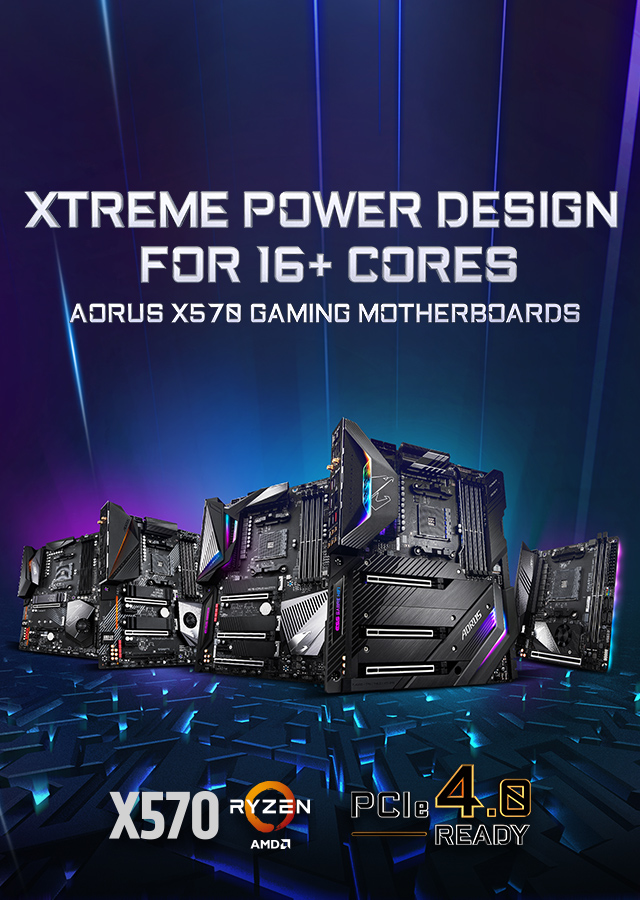 Xtreme Power Design For 16+ Cores AORUS X570 Gaming Motherboards