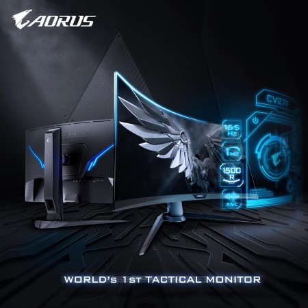 True 1500R Super Immersive! AORUS CV27F Launched!